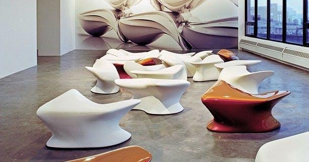 Møbler: Futuristisk skammel
