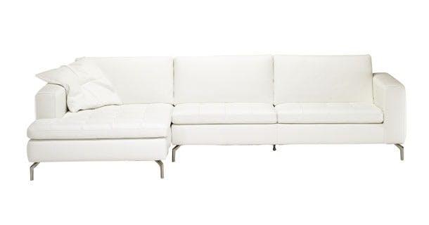 Den hvide sofa i læder