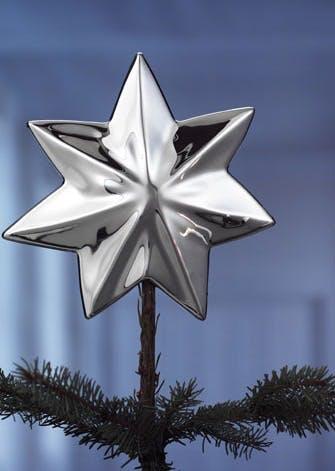 Juletræsstjerne, forsølvet
