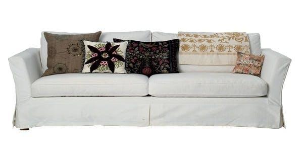 Sofa, Shabby, med hvidt aftageligt