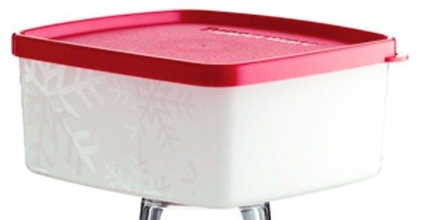 Tupperware-frysebeholderen, 1947 og 2007,
