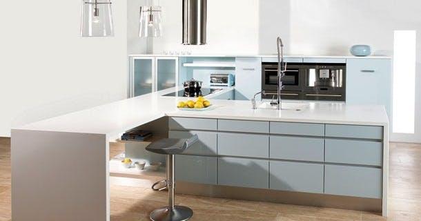Det lyseblå køkken