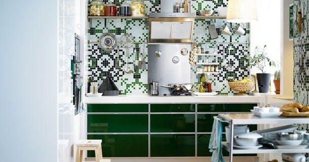 Mørkegrønt køkken