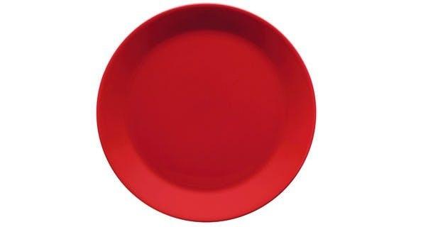 Rød tallerken