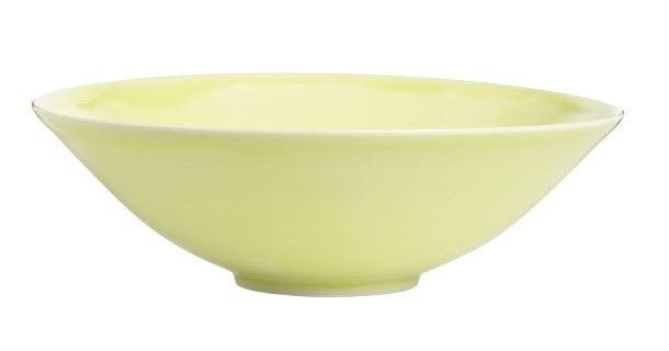 Gul håndlavet skål