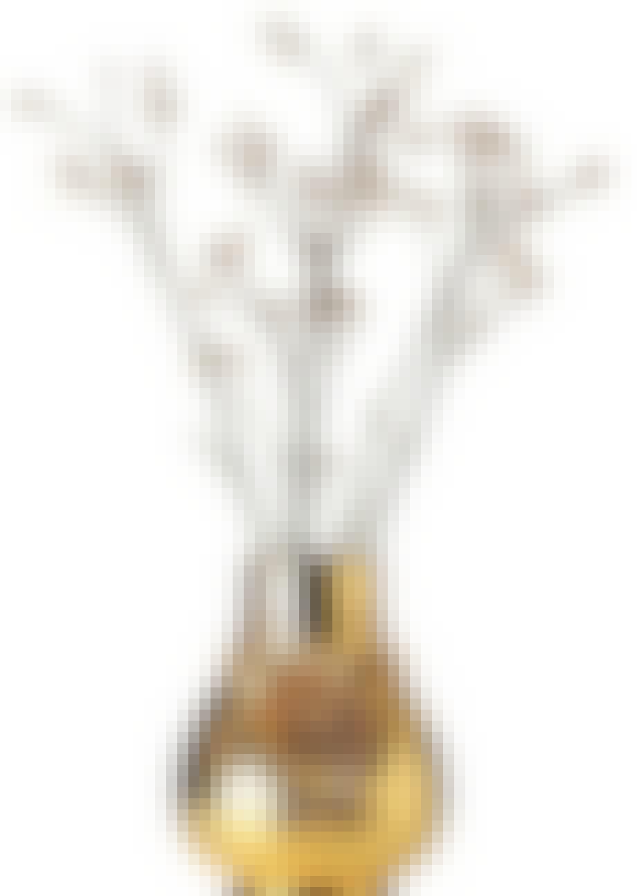 Guldfarvet vase
