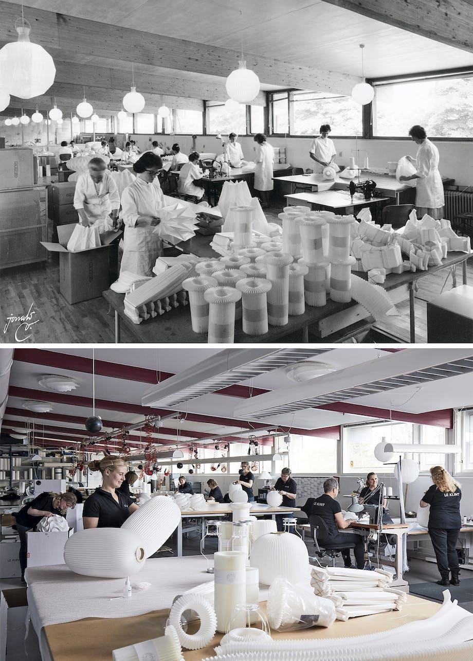 le klint lampe fabrik før efter