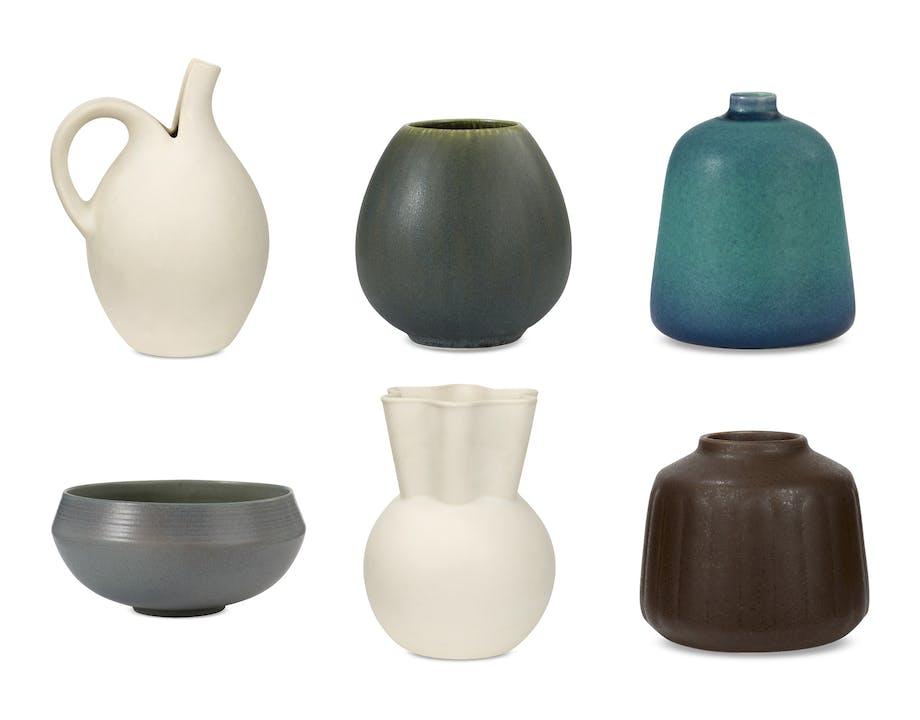keramik design vase skål kande