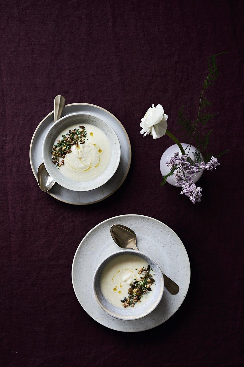 suppe blomkål opskrift cremet fløde