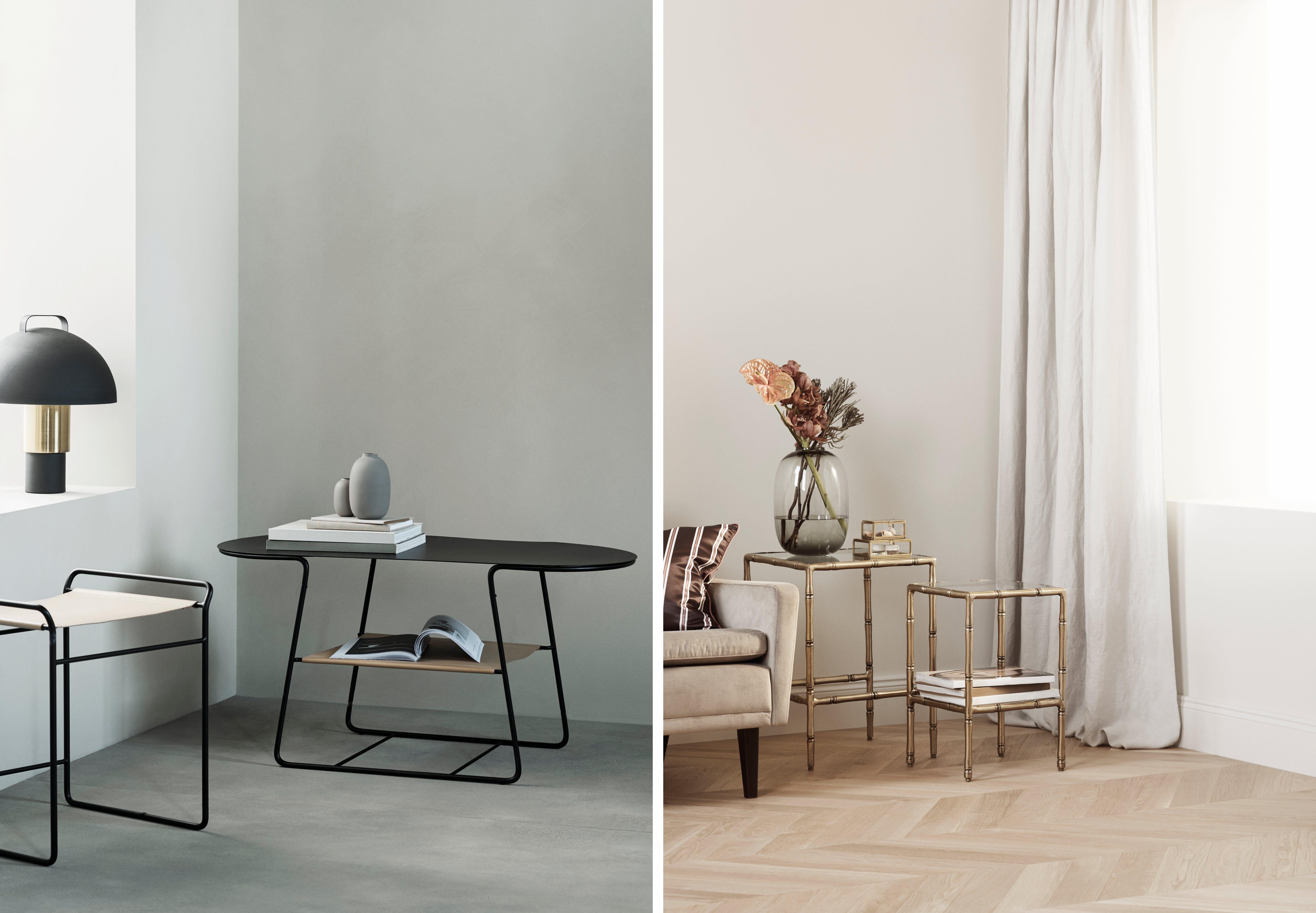 H&M Home ny kollektion bord lampe møbler