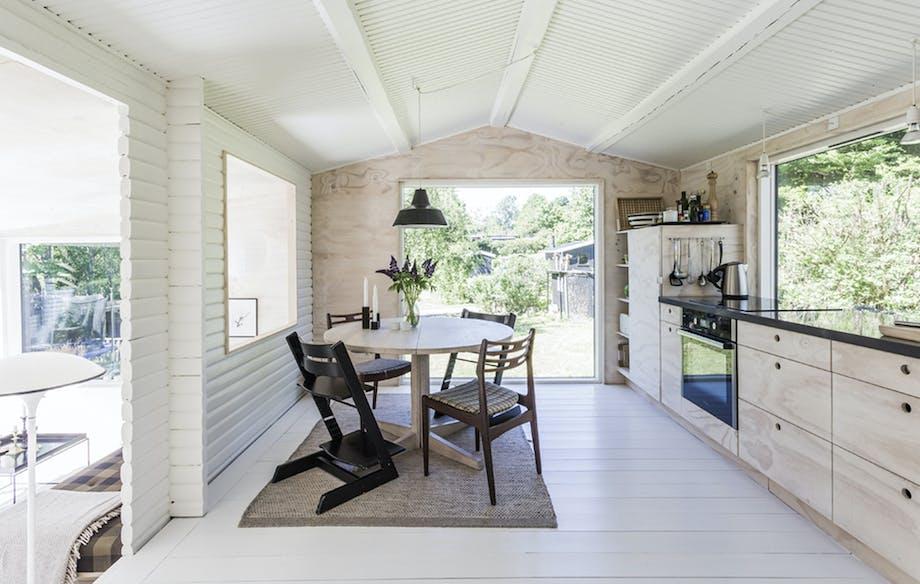 Køkken træ billigt sommerhus