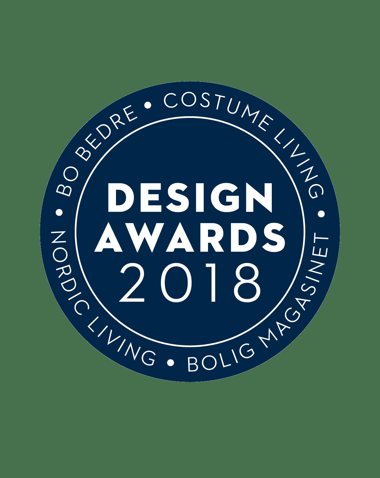 Design Awards 2018 logo i blå