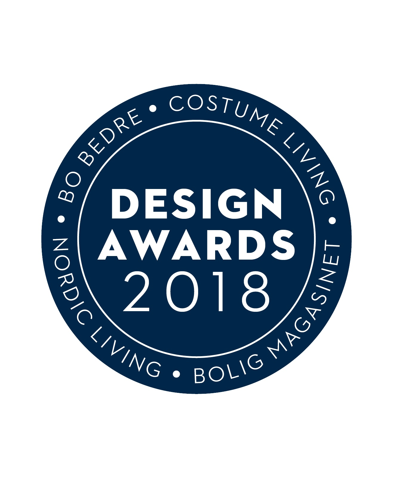 Design Awards 2018 logo i blå