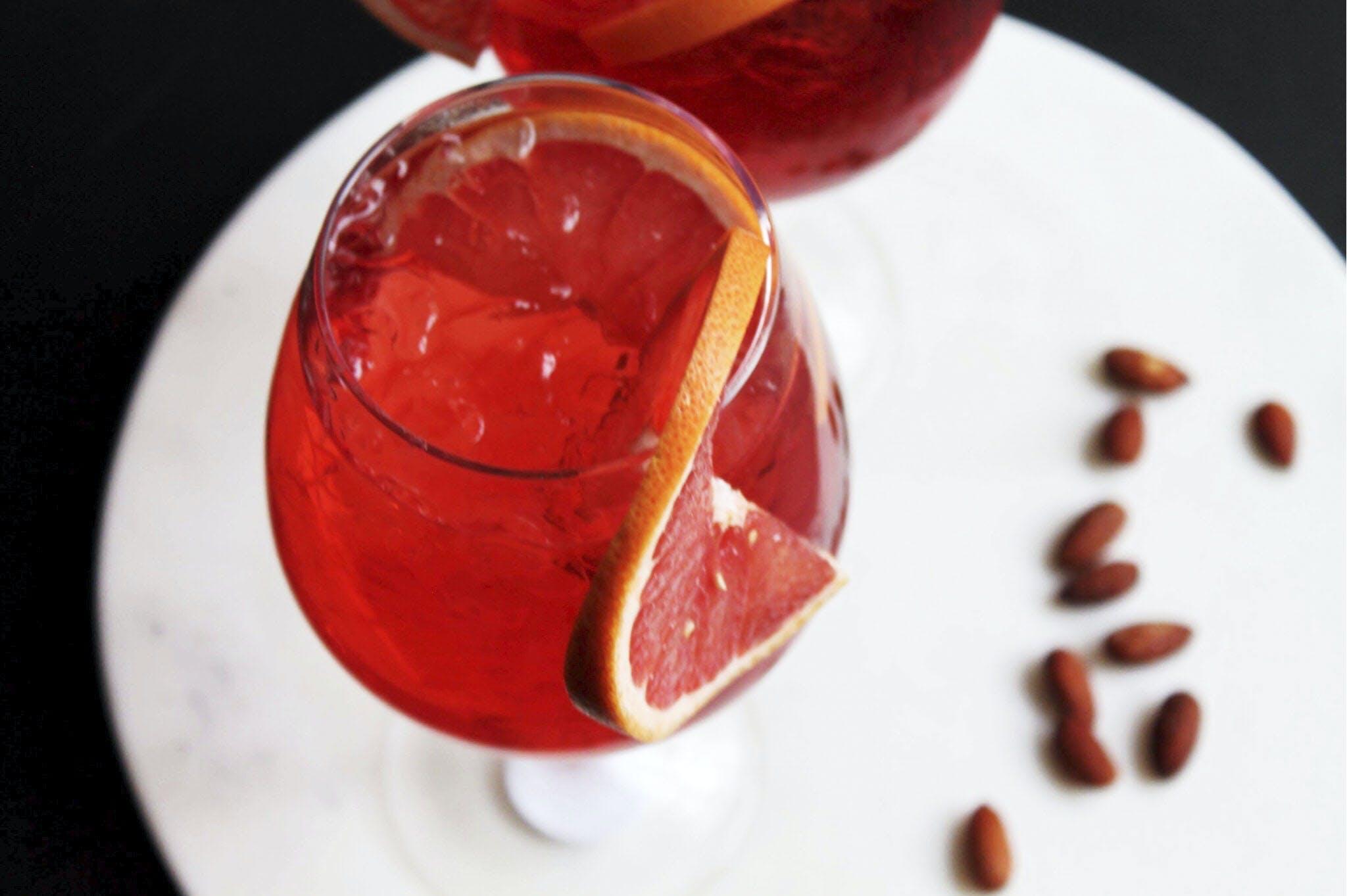 Drinks passoa grape cocktail