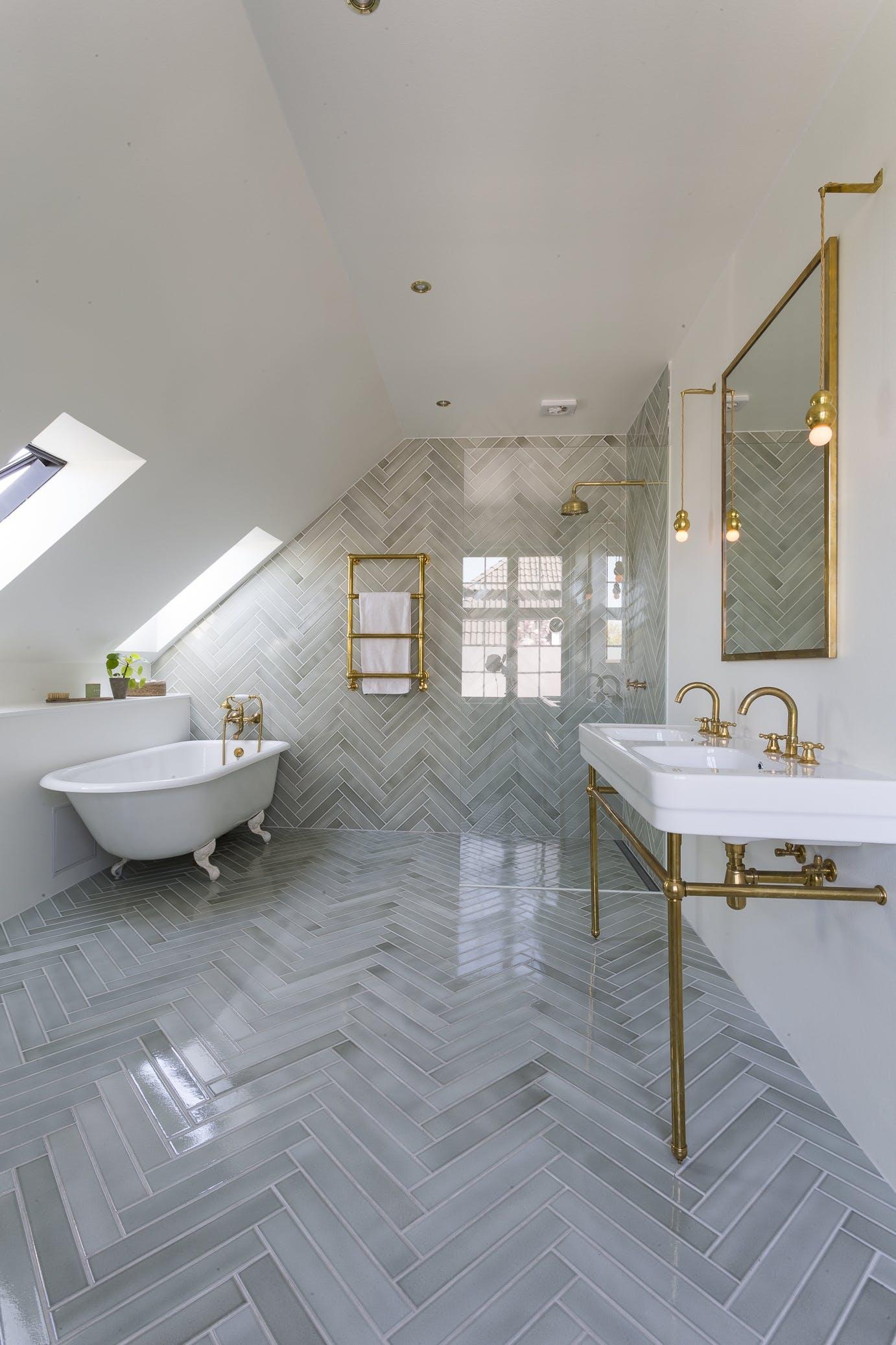 Badeværelse messing badekar