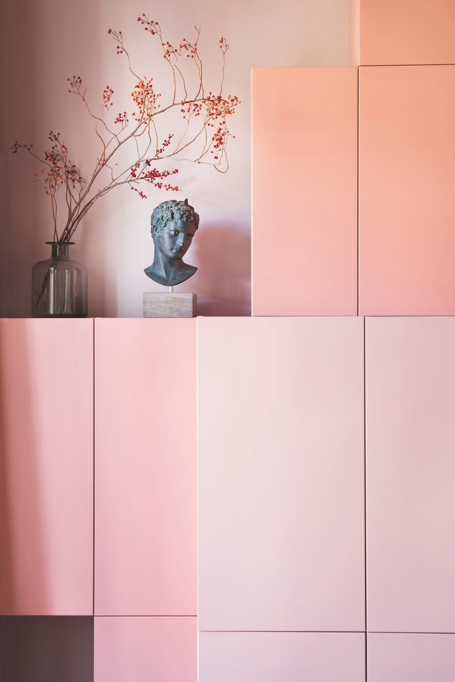 lyserød monokromt opbevaring
