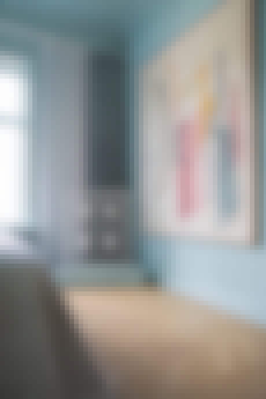 soveværelse kunst blå