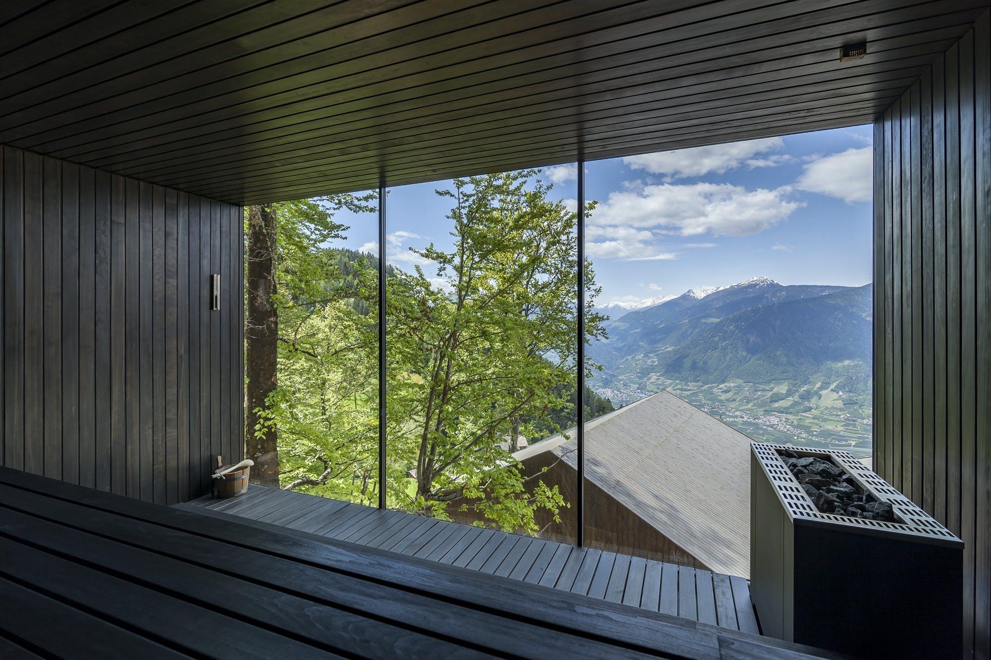 Sauna udsigt natur luksus