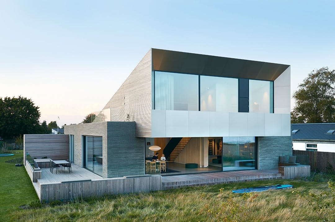 villa design grafisk grå træ moderne