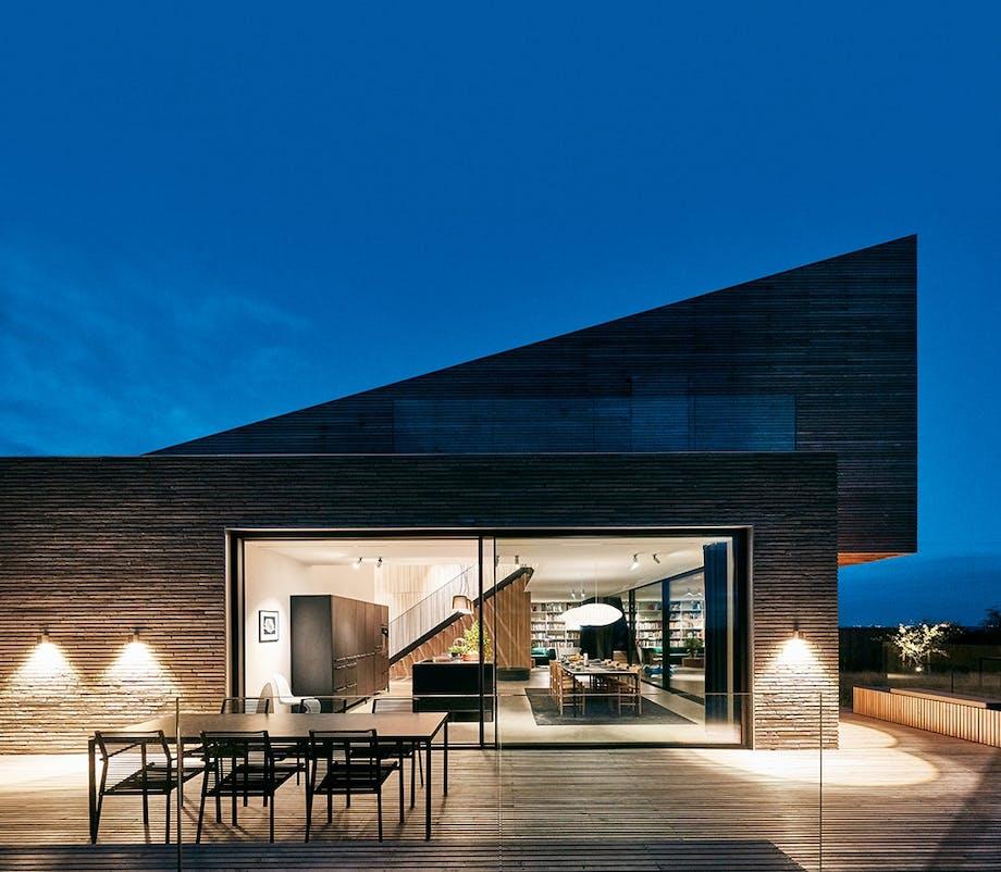 Villa terasse design moderne træ