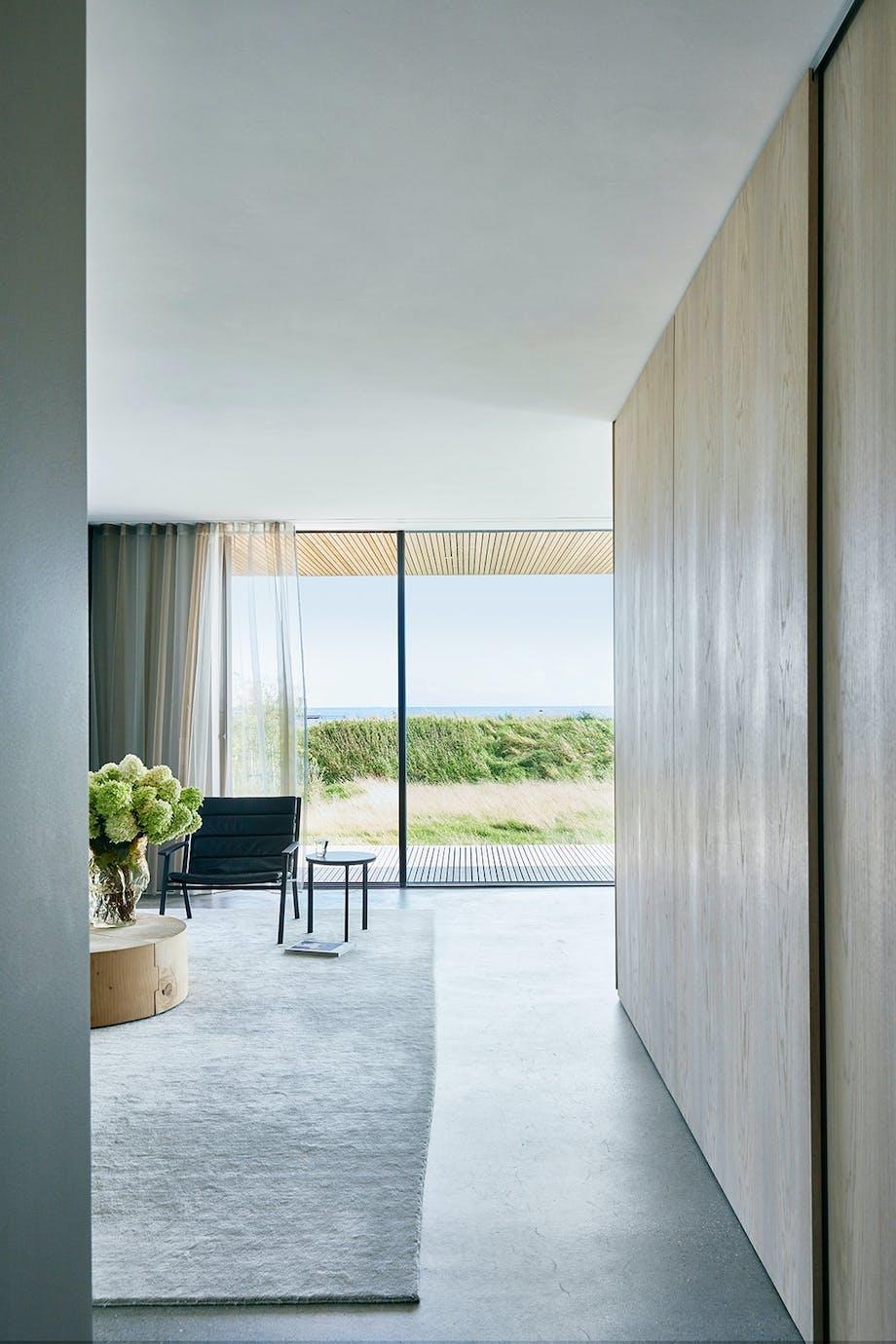 udsigt stue vinduer lyst træ