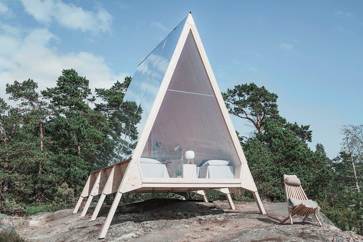 a-formet hytte finland natur