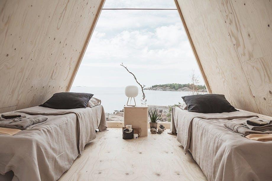 minimalistisk design soveværelse udsigt