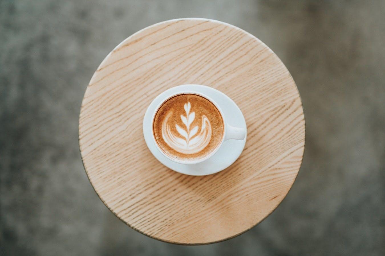 kaffe kop hvid latte