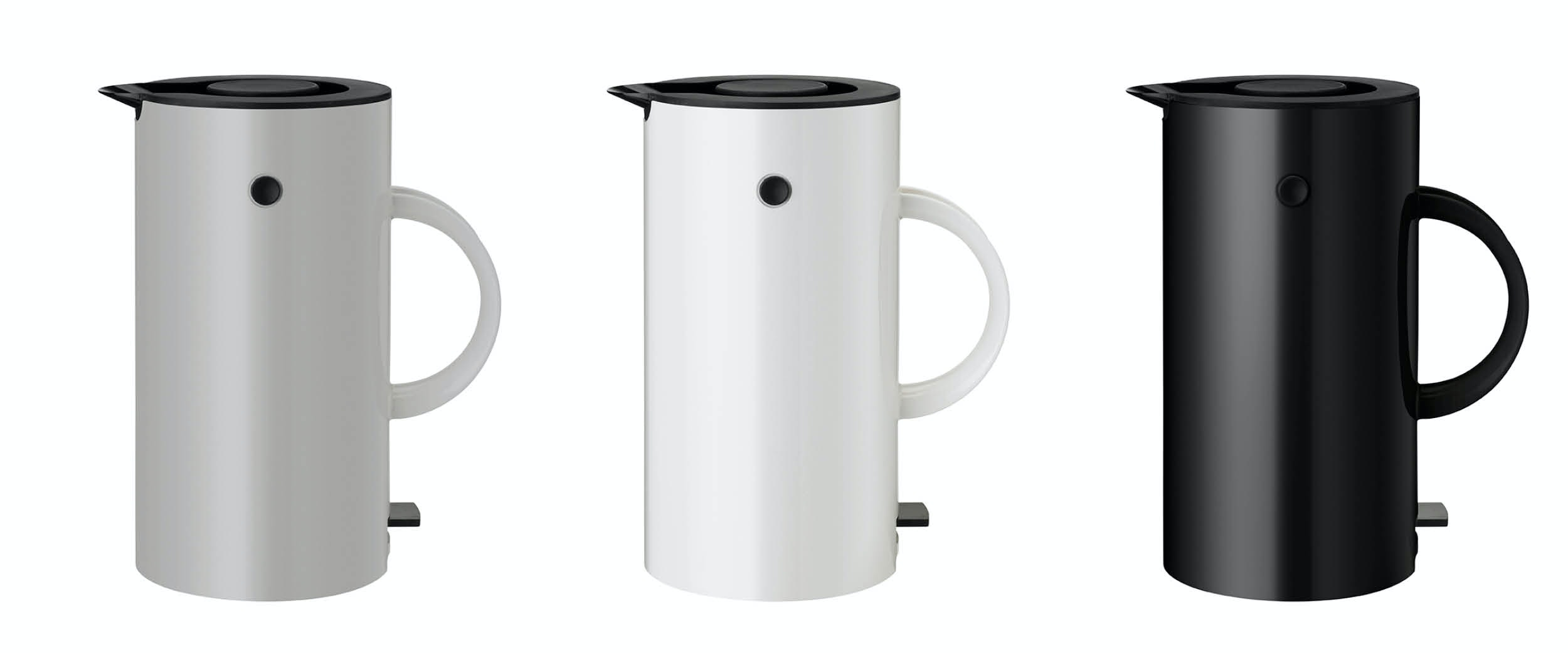 Stelton EM77 elkedel i grå, hvid og sort