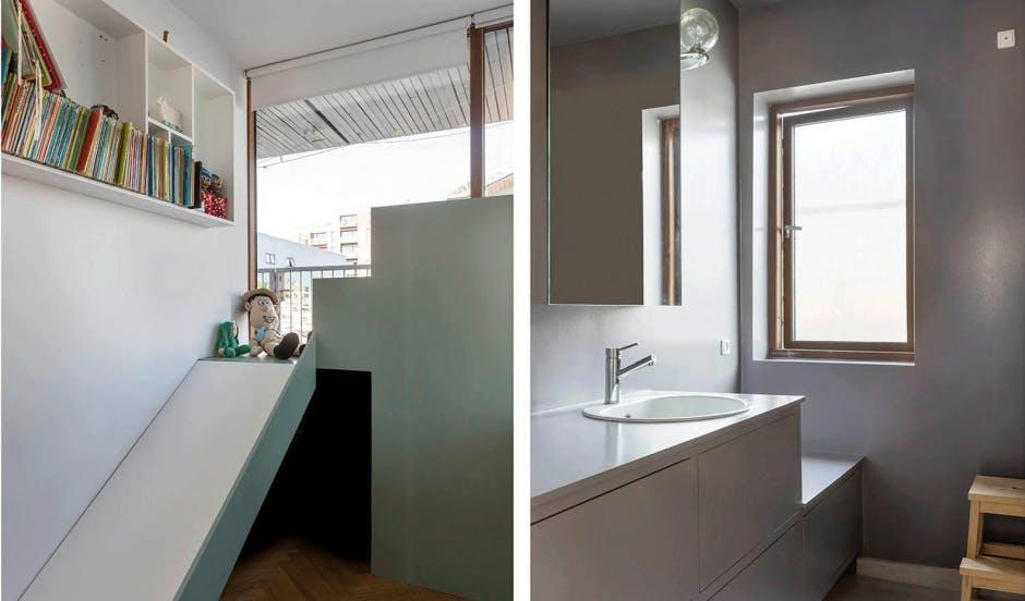 husbåd indretning badeværelse børneværelse