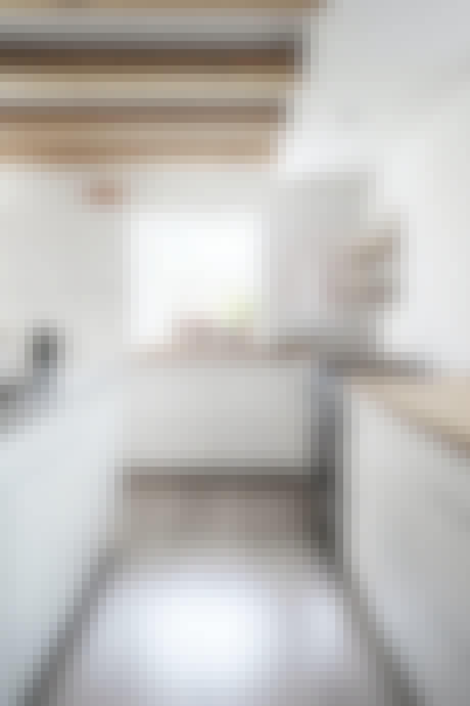 Hvidt Køkken bjælker