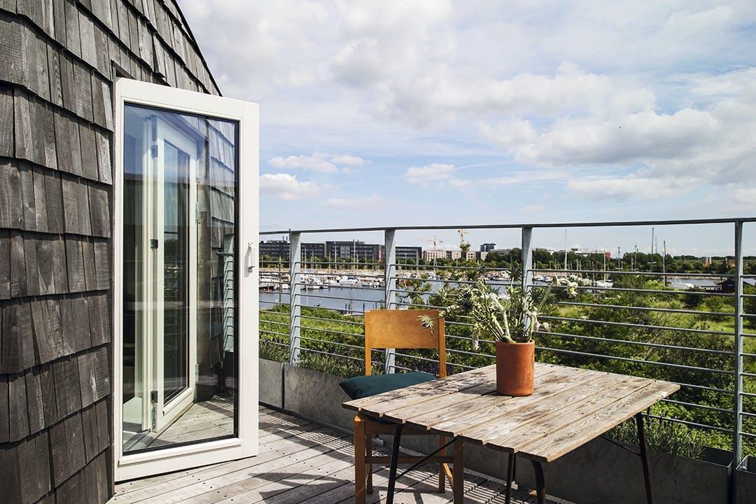 Terrasse udsigt træhus sydhavn