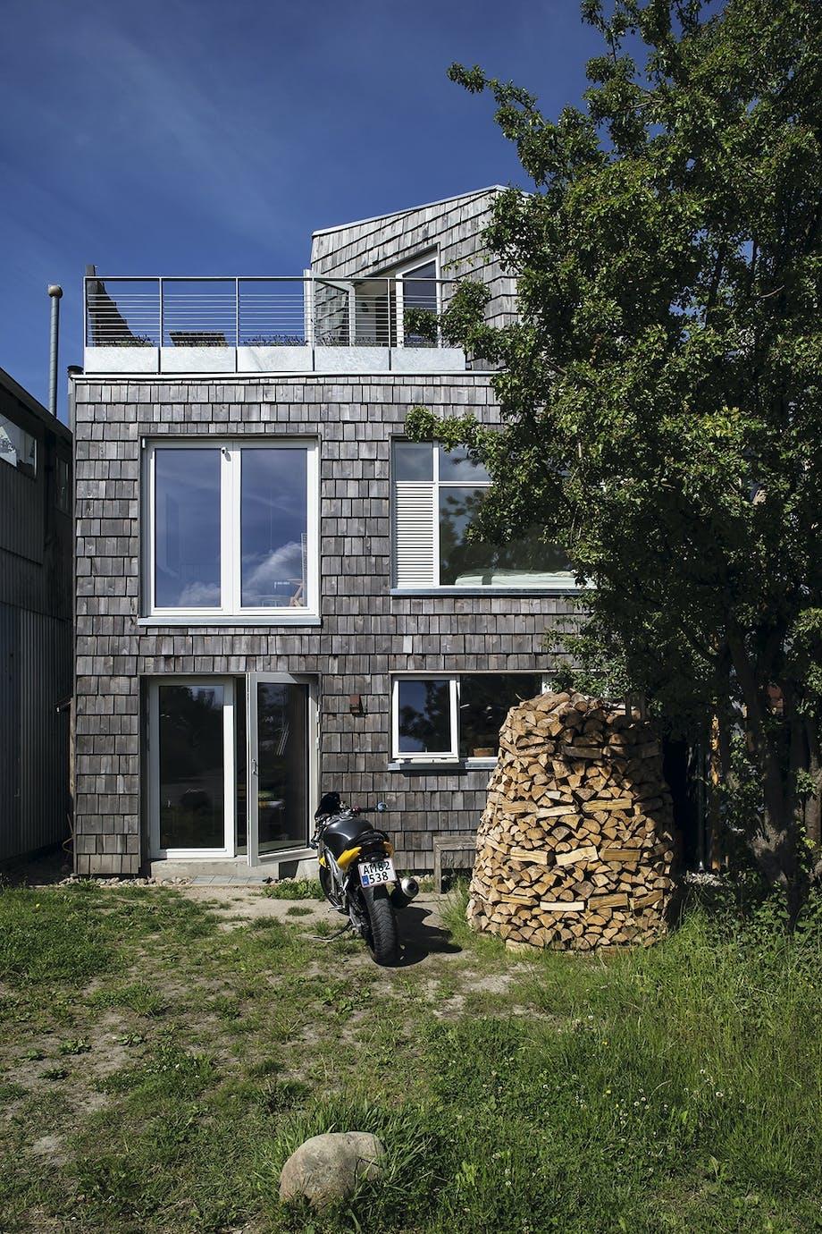 Træhus arkitekttegnede nybyggerhus