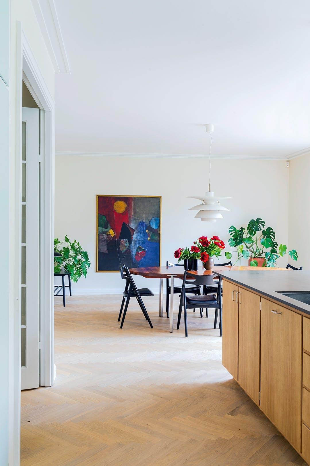 spisestue køkkenø spisebord spisestole