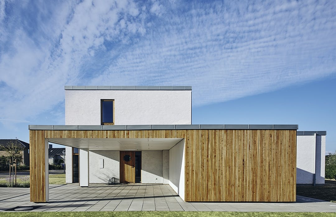 Funkisvilla arkitektegnede smarthjem