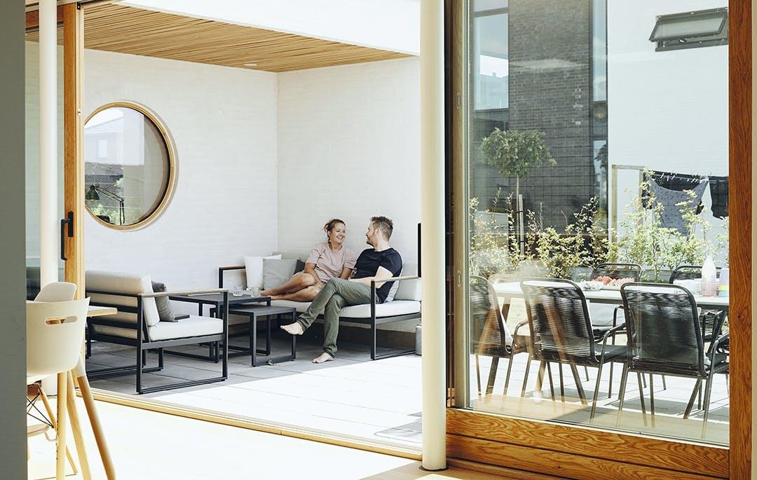 Terrasse havemøbler vinduesparti