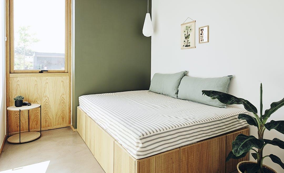Gæsteværelse grøn vægfarve