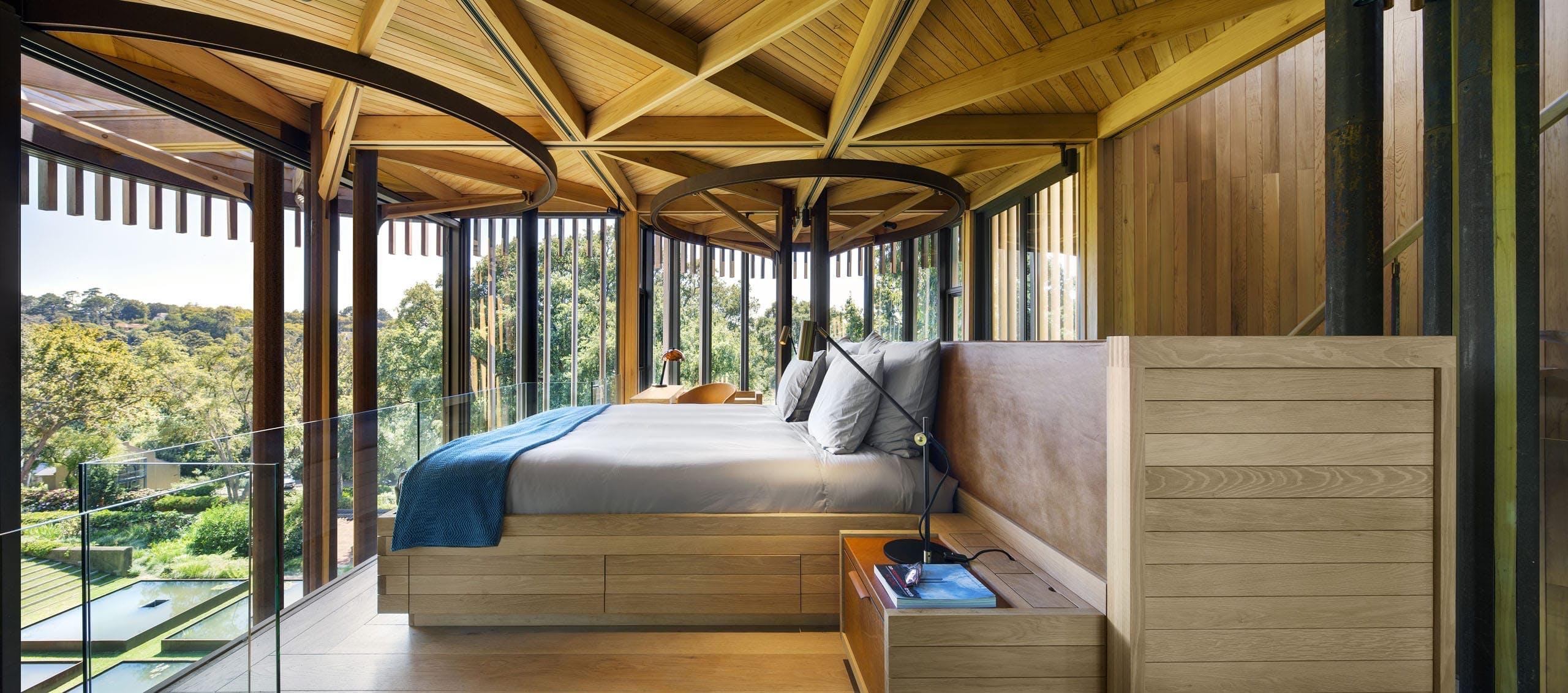 Soveværelse udsigt luksus sydafrika