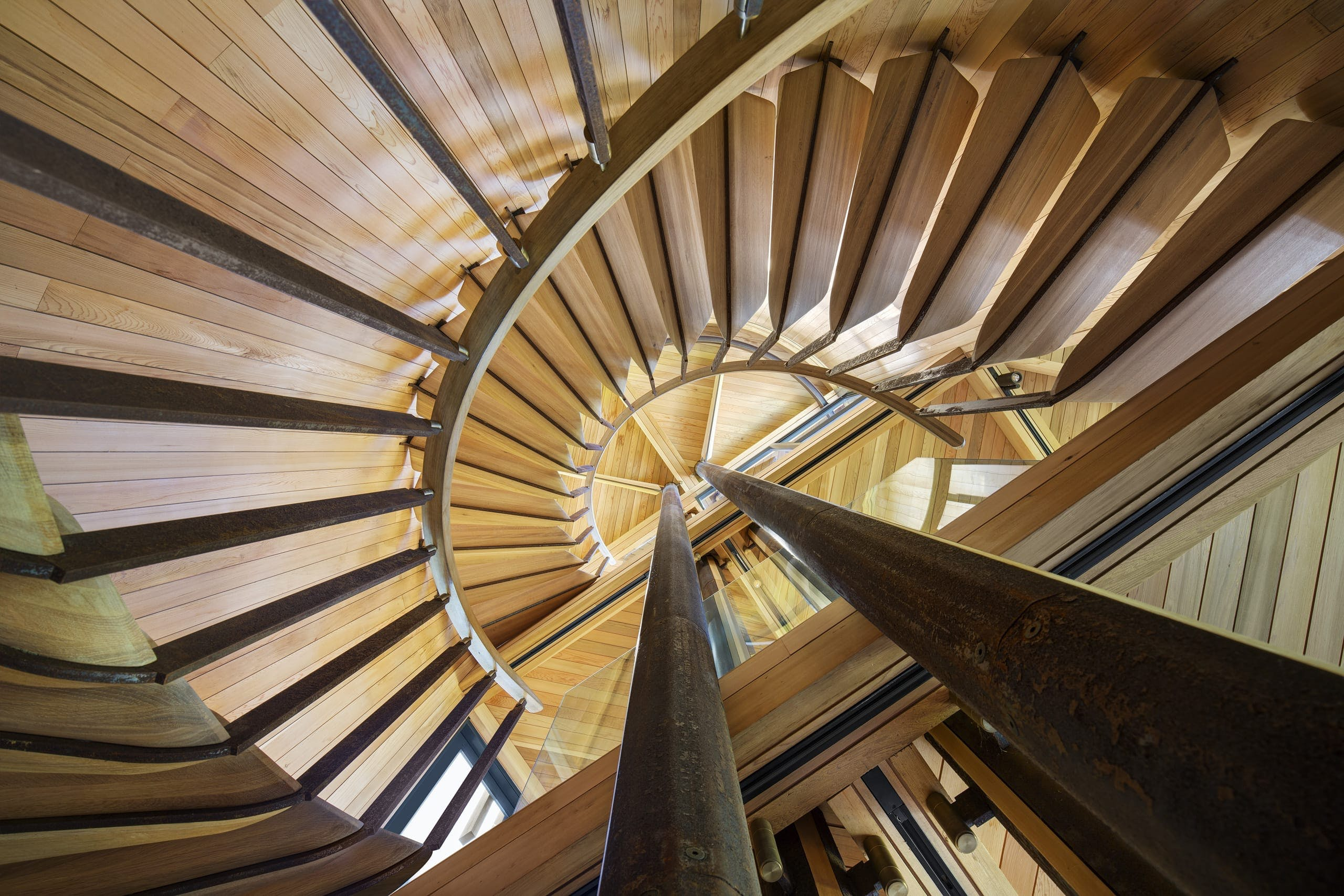 Trappe træ arkitektur spektakulær
