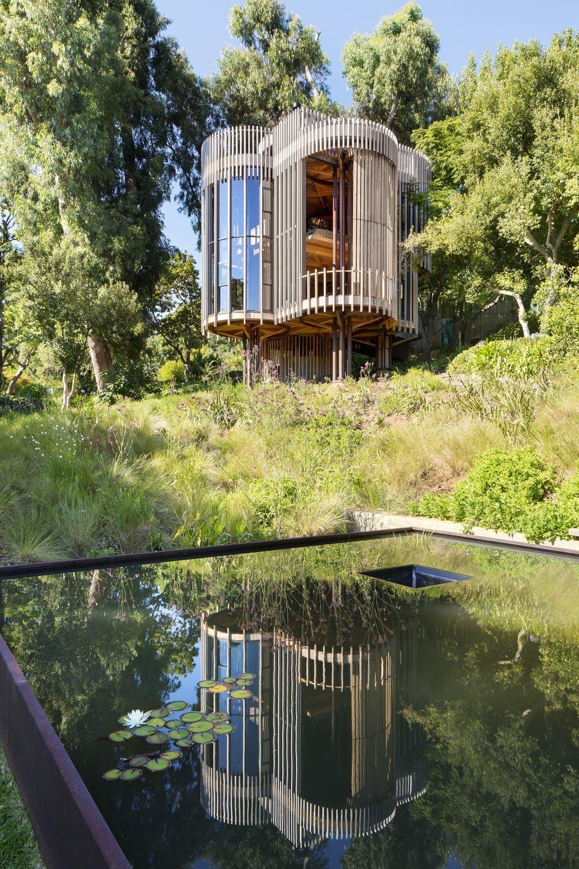 Træhus arkitektur luksus cylinder