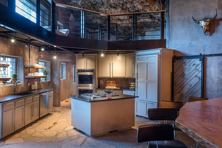køkken køkkenø indretning gelænder