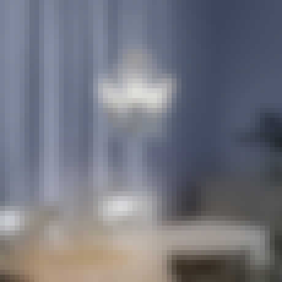 Lysekrone med glas prismer