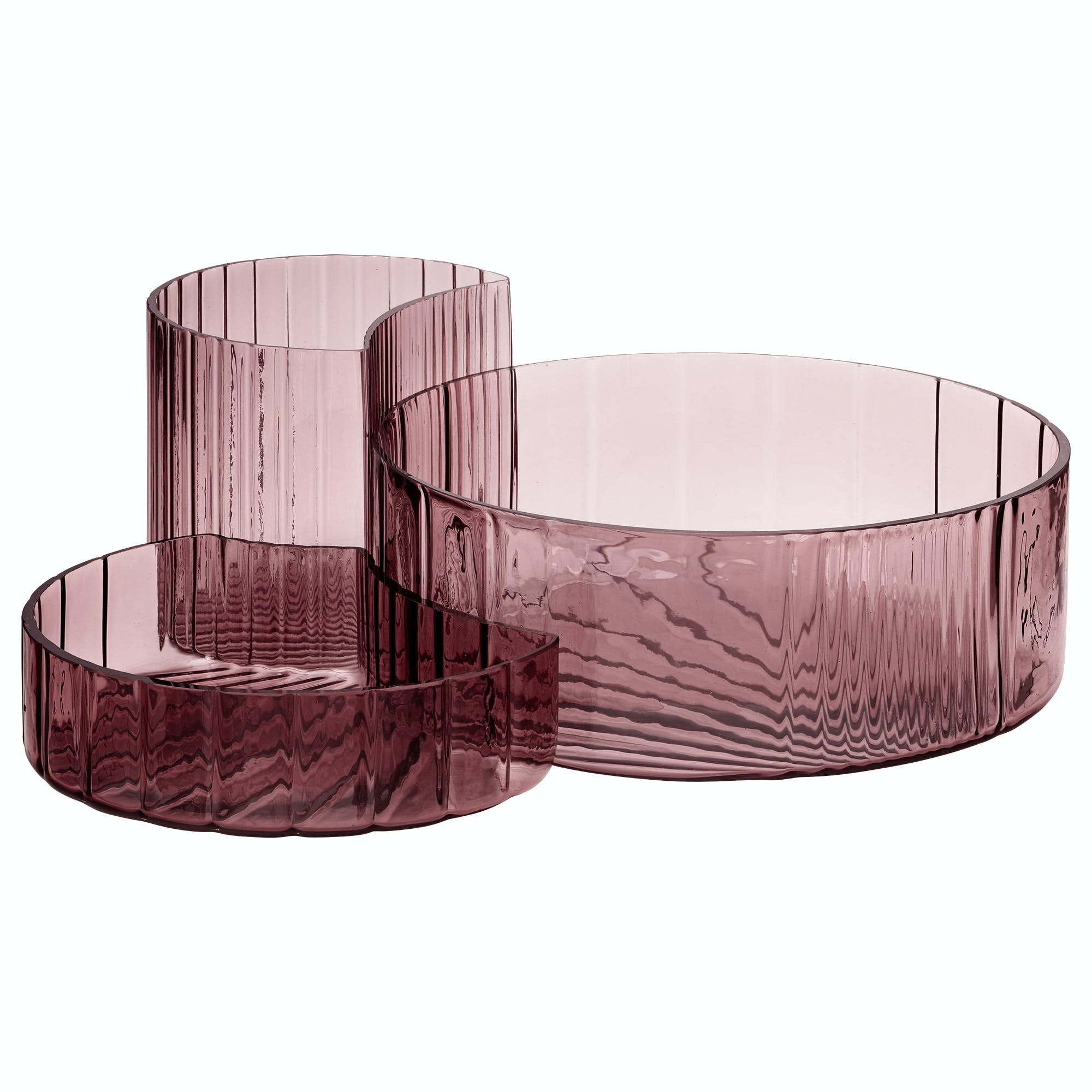 skåle skålsæt rosa glas AYTM