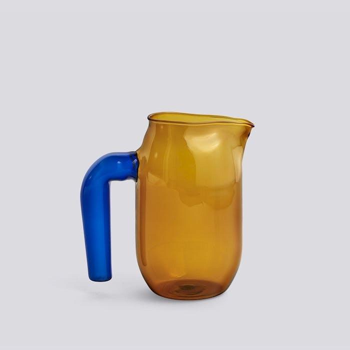 kande hay jug amber ravfarvet blå