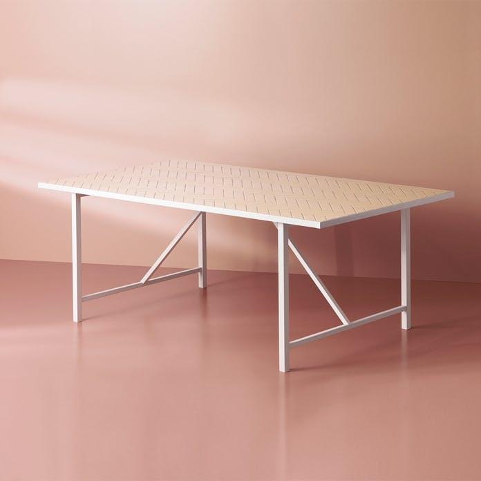 bord warm nordic herringbone spisebord