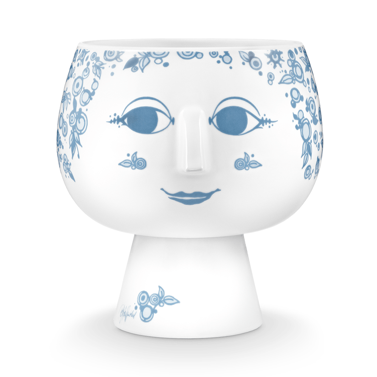 urtepotteskjuler bjørn wiinblad ansigt vase