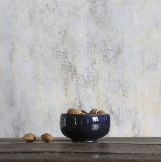 skål mørkeblå keramik ro collection