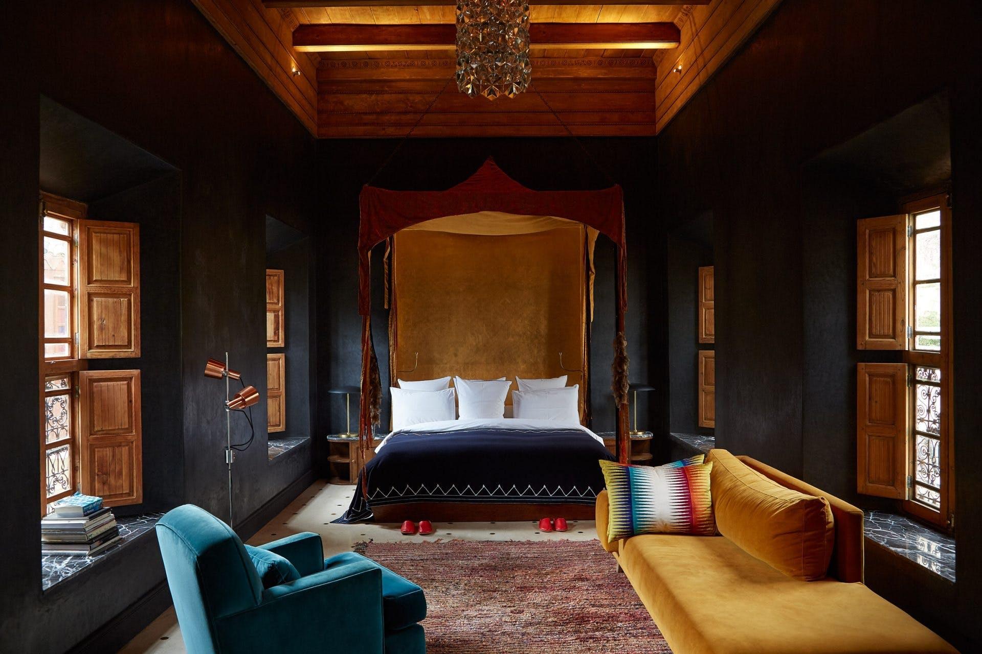 soveværelse daybed marokkansk sengetæppe