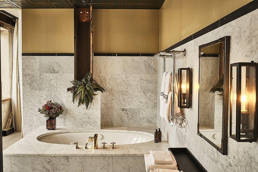 Badeværelse luksus marmor hotel