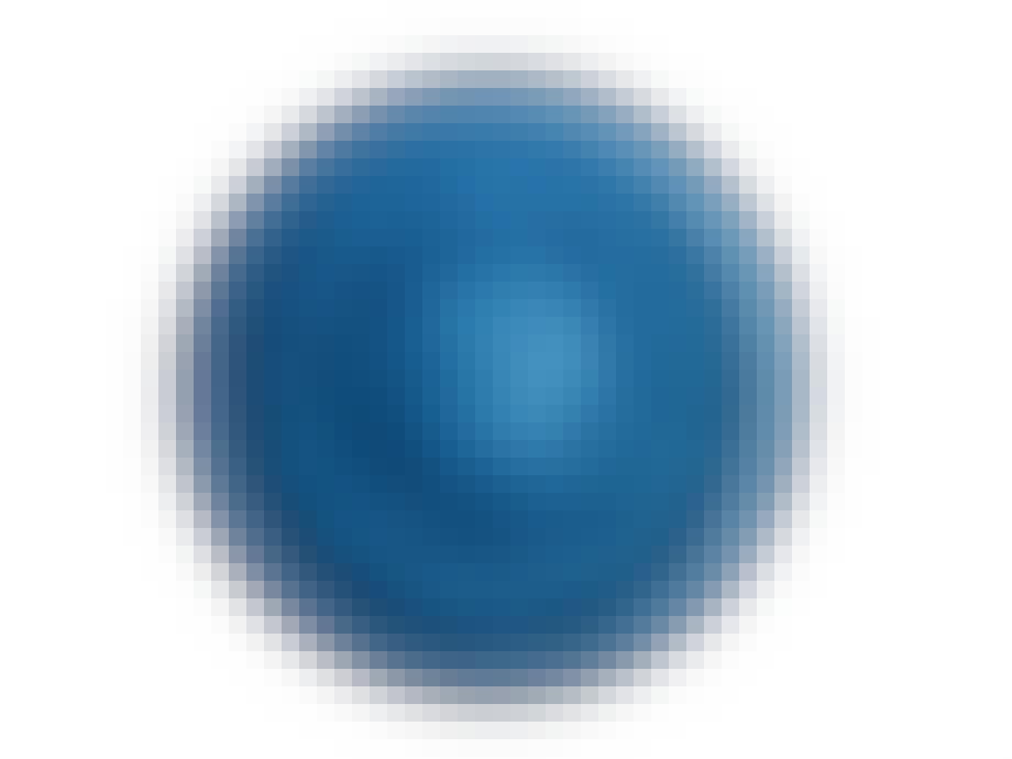 Tallerken keramik blå
